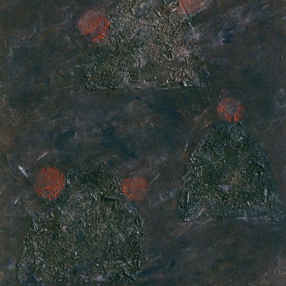 Matières, acrylique bois et terre, 100×80 cm
