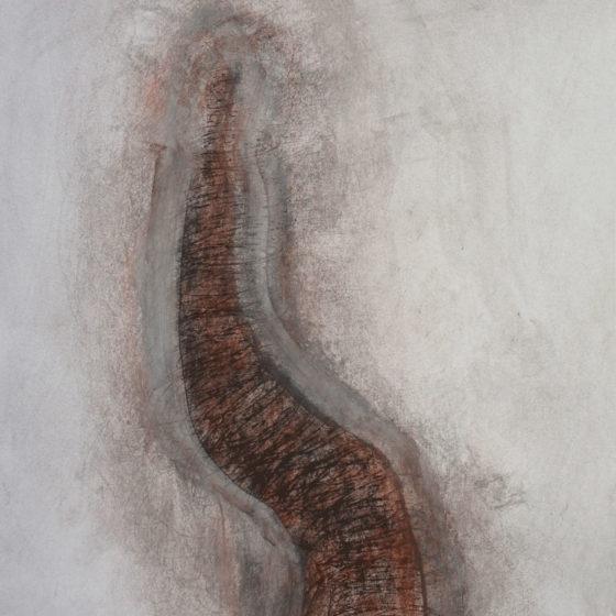 Figure assise, pastel 60×42 cm