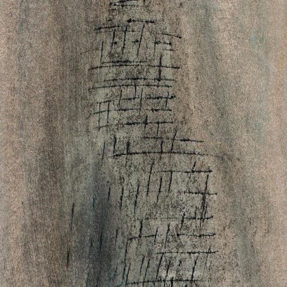Figure-mur, pastel 21×15 cm