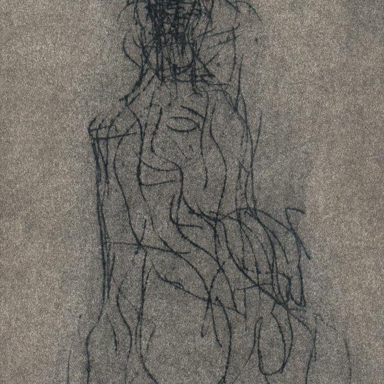 Figure assise, pastel 21×15 cm