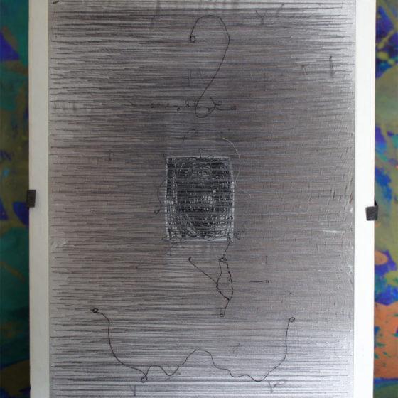 Elle, étoffe et fils de ferre et fils, 26x20x6 cm