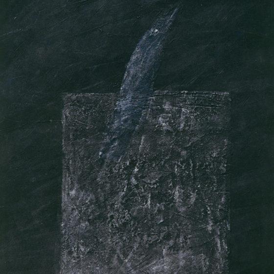 Uccello, acrylique et terre, 100×80 cm